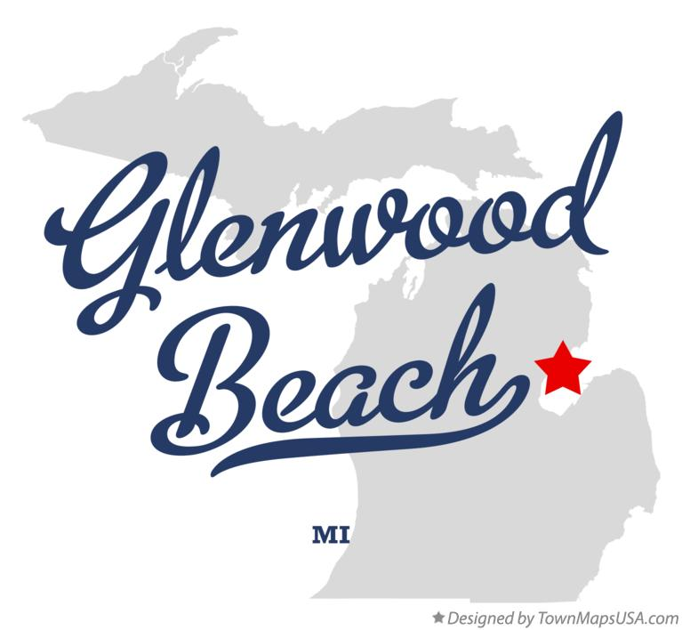 Map of Glenwood Beach Michigan MI