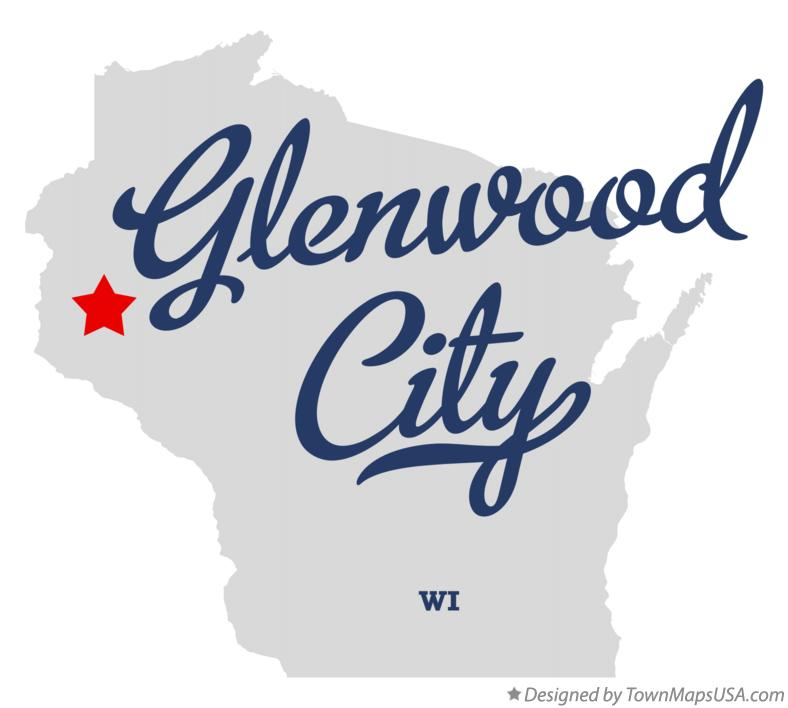 Map of Glenwood City Wisconsin WI