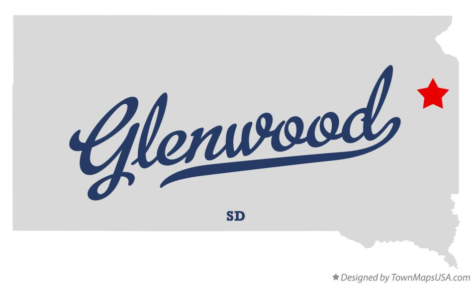 Map of Glenwood South Dakota SD