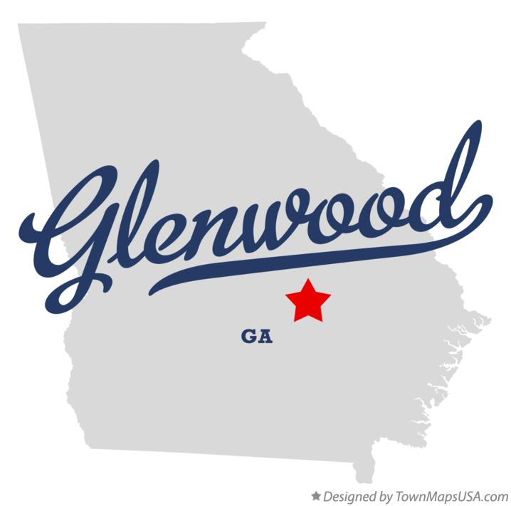 Map of Glenwood Georgia GA