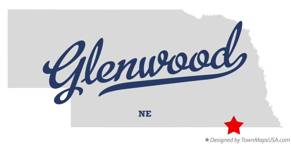 Map of Glenwood Nebraska NE