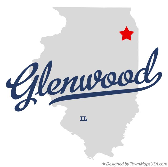 Map of Glenwood Illinois IL