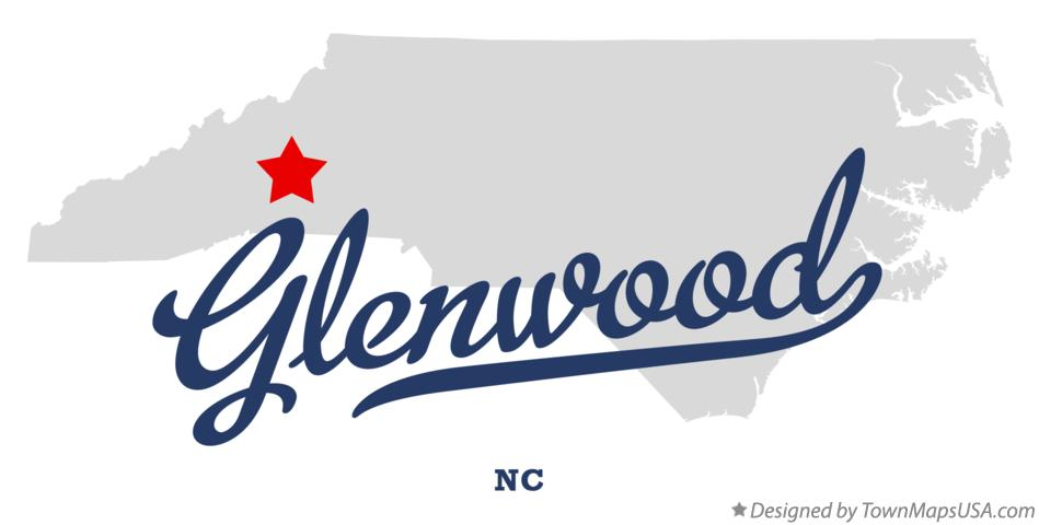 Map of Glenwood North Carolina NC