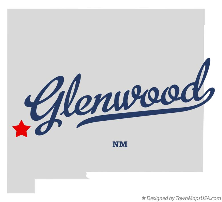 Map of Glenwood New Mexico NM