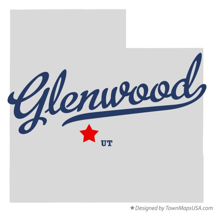 Map of Glenwood Utah UT