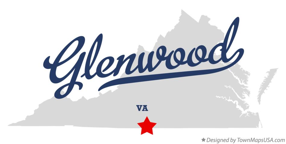Map of Glenwood Virginia VA