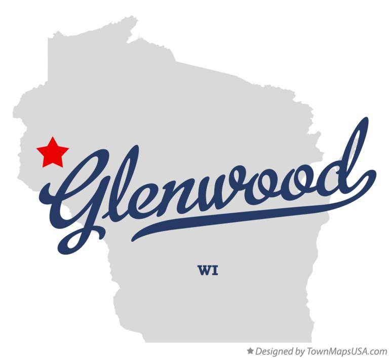 Map of Glenwood Wisconsin WI