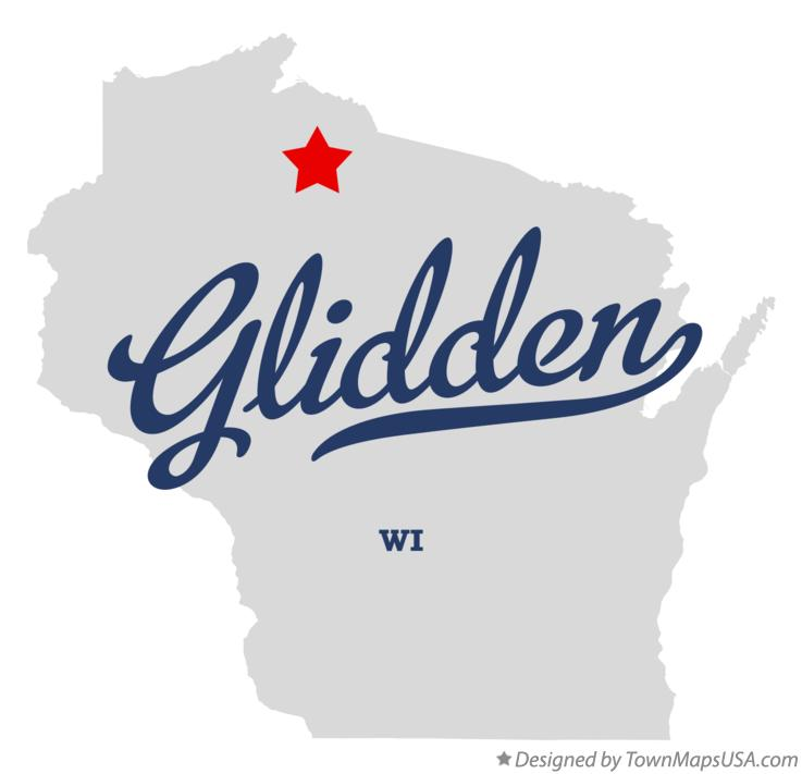 Map of Glidden Wisconsin WI