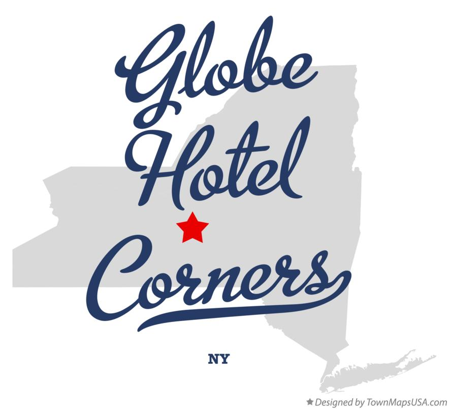 Map of Globe Hotel Corners New York NY