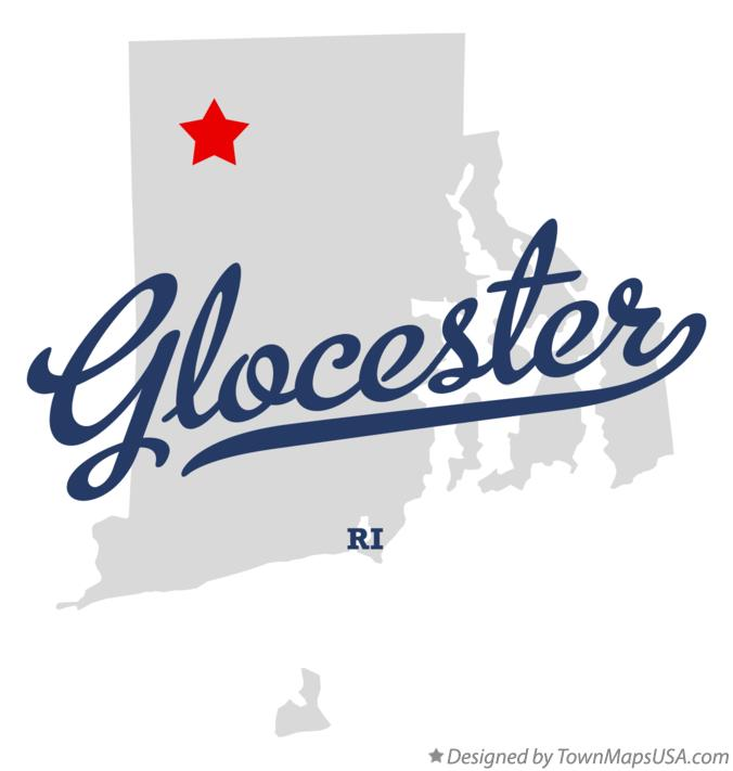 Map of Glocester Rhode Island RI