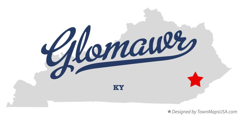 Map of Glomawr Kentucky KY