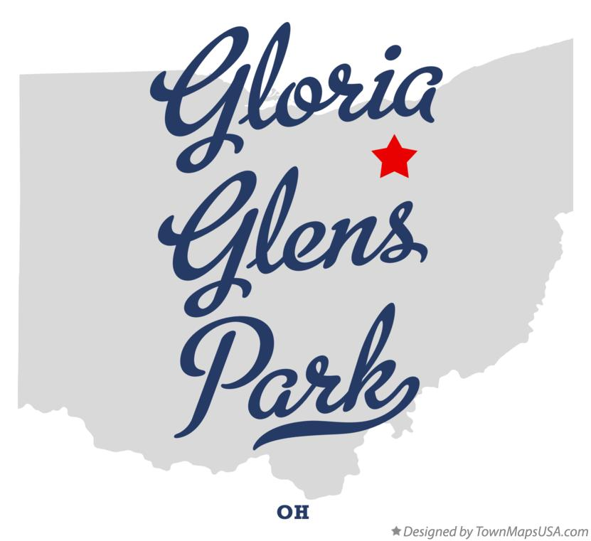 Map of Gloria Glens Park Ohio OH