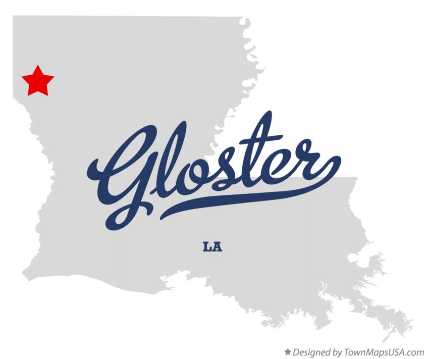 Map of Gloster Louisiana LA