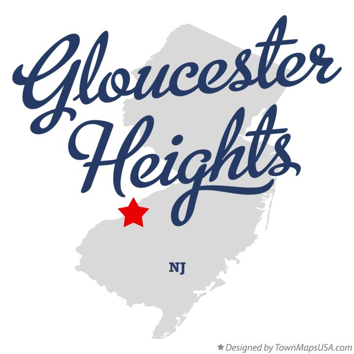 Map of Gloucester Heights New Jersey NJ