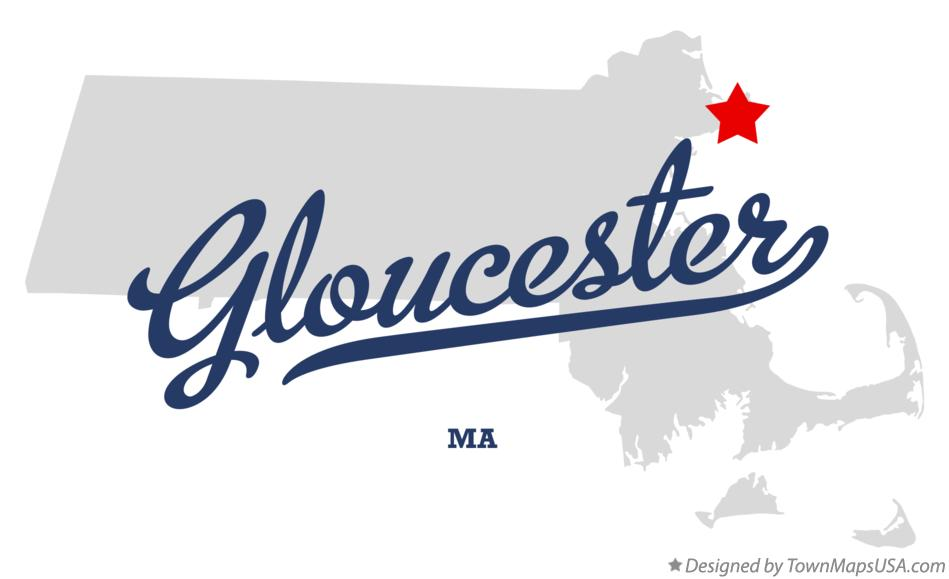 Map of Gloucester Massachusetts MA