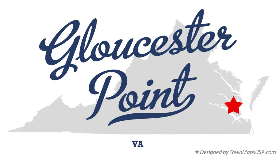 Map of Gloucester Point Virginia VA