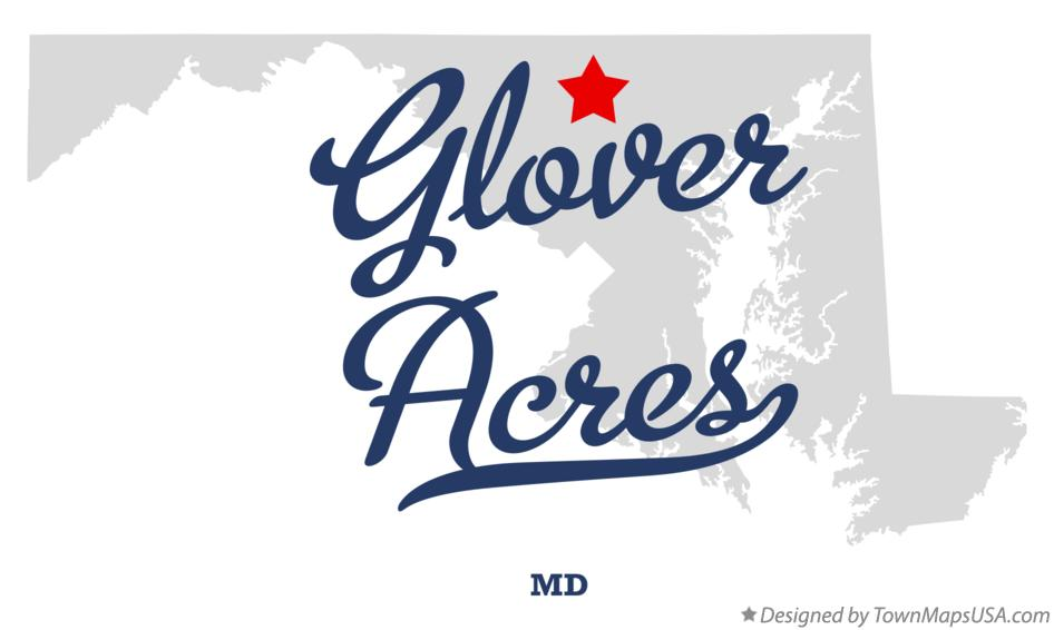 Map of Glover Acres Maryland MD