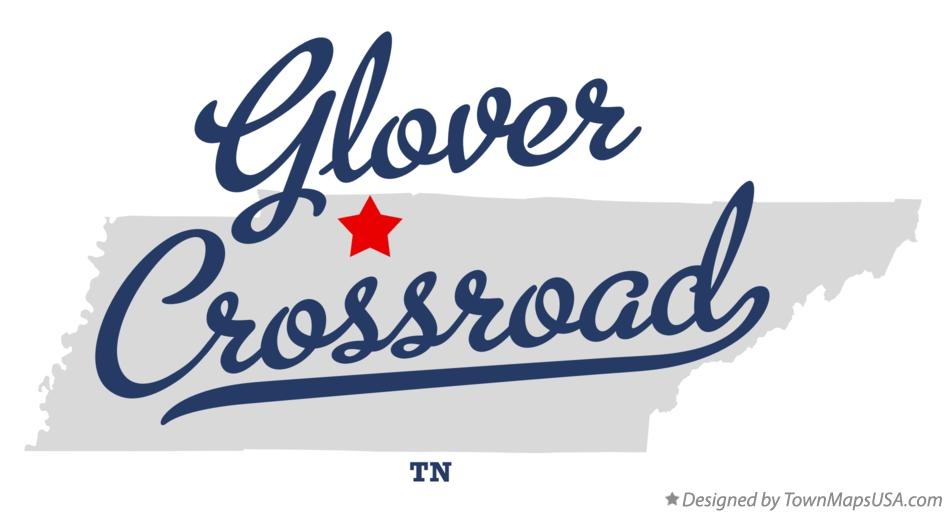 Map of Glover Crossroad Tennessee TN