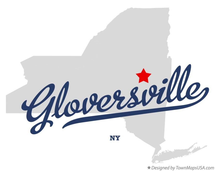 Map of Gloversville New York NY