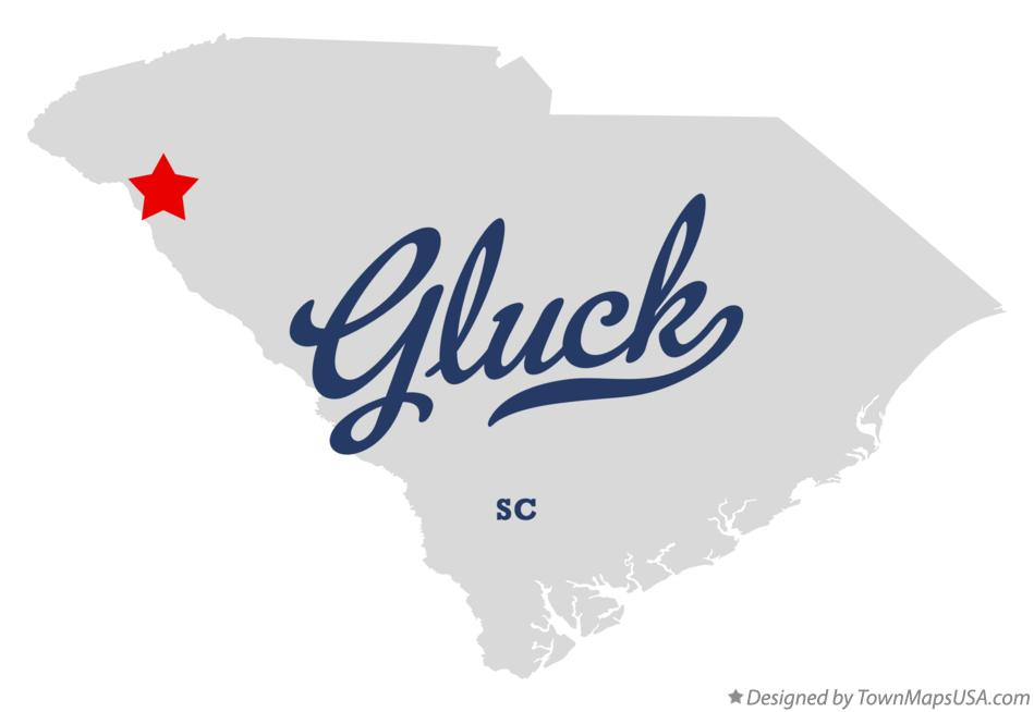 Map of Gluck South Carolina SC