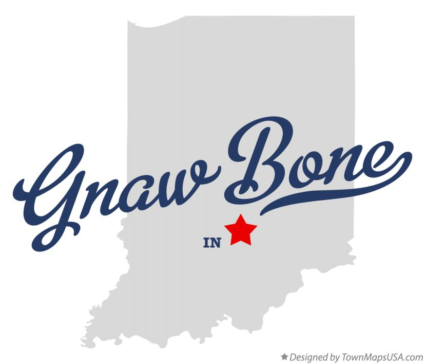 Map of Gnaw Bone Indiana IN
