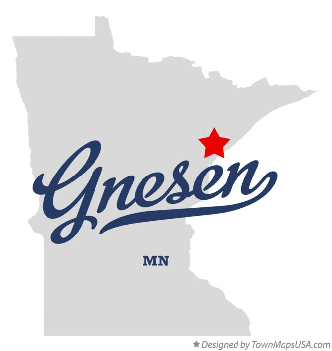 Map of Gnesen Minnesota MN