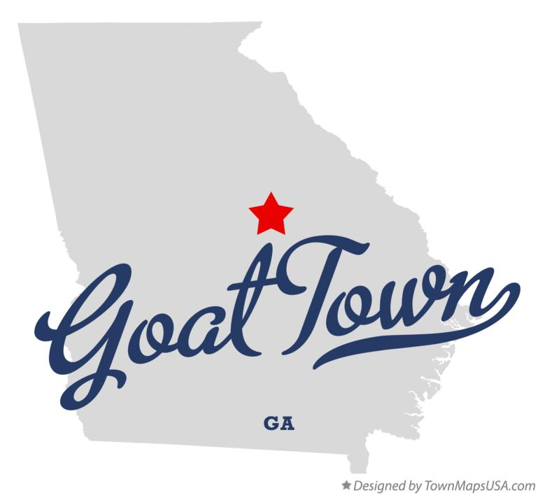 Map of Goat Town Georgia GA
