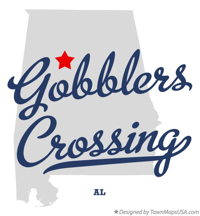 Map of Gobblers Crossing Alabama AL