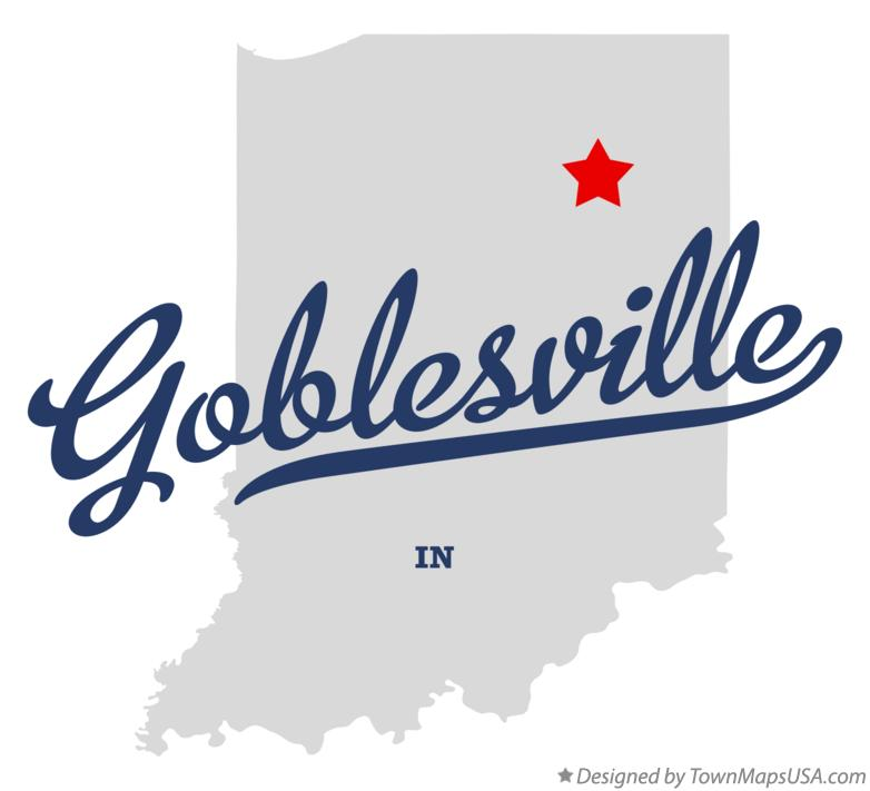 Map of Goblesville Indiana IN