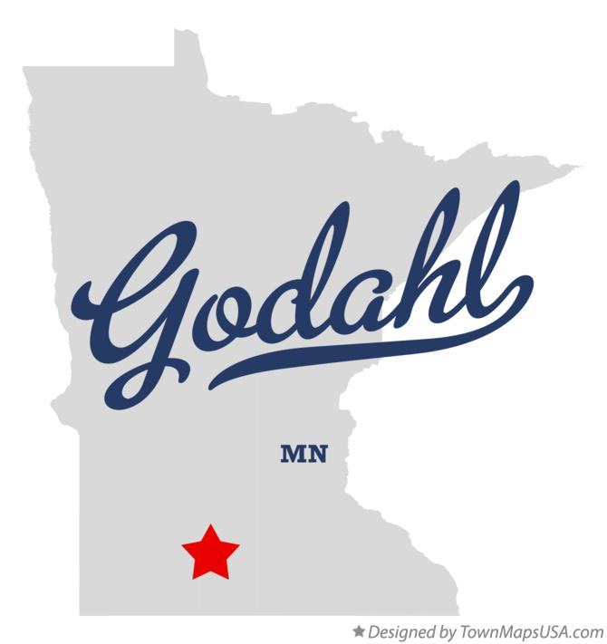 Map of Godahl Minnesota MN