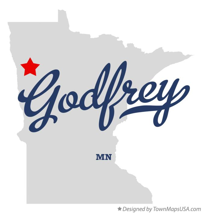 Map of Godfrey Minnesota MN