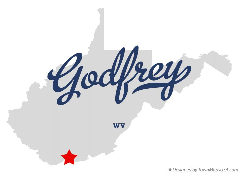 Map of Godfrey West Virginia WV