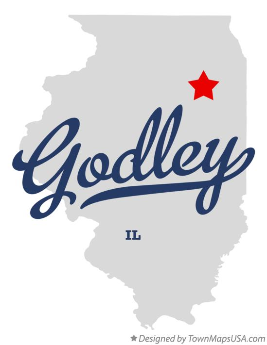 Map of Godley Illinois IL