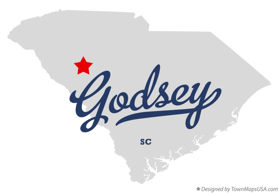 Map of Godsey South Carolina SC