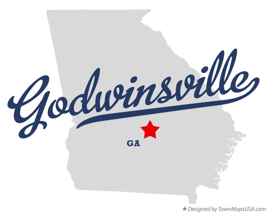 Map of Godwinsville Georgia GA