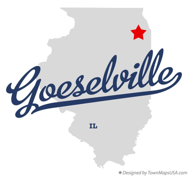 Map of Goeselville Illinois IL