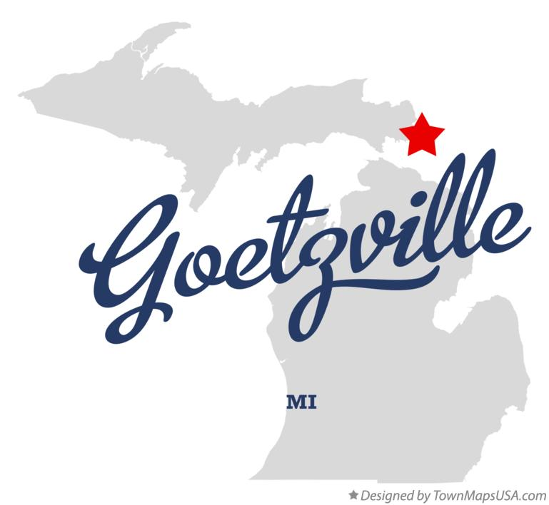 Map of Goetzville Michigan MI
