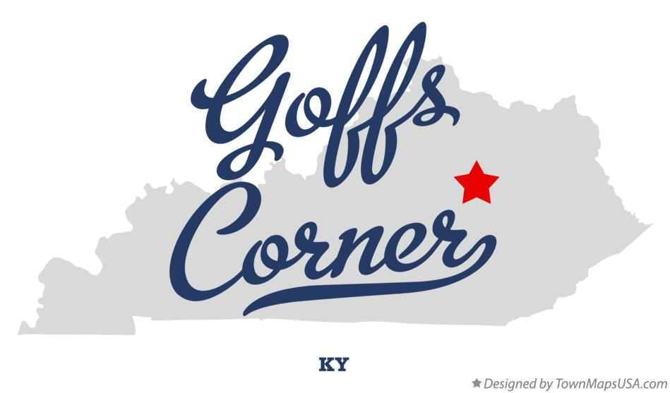 Map of Goffs Corner Kentucky KY