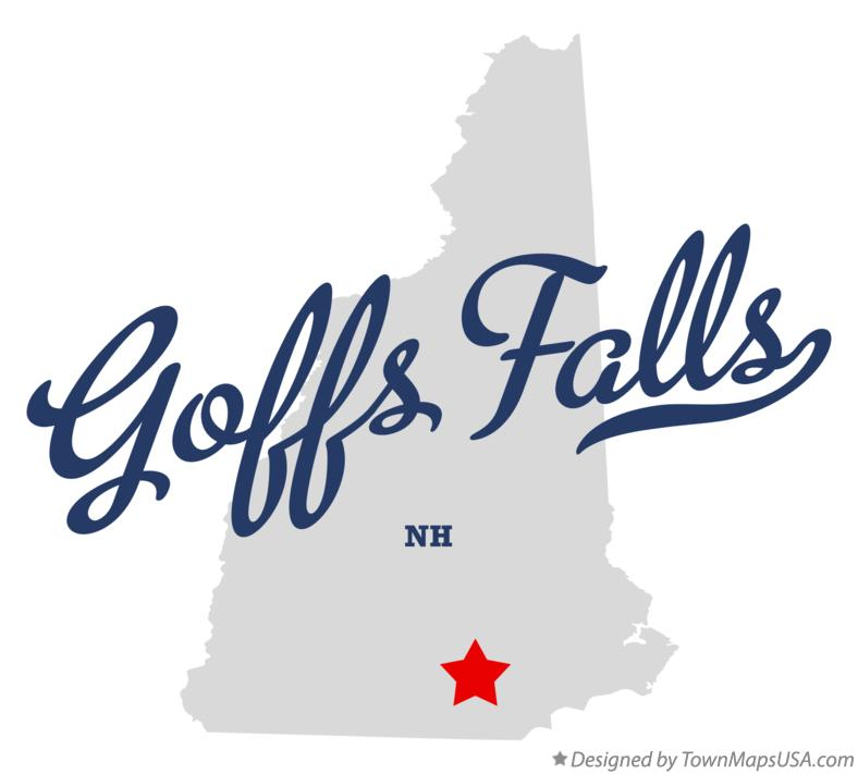 Map of Goffs Falls New Hampshire NH