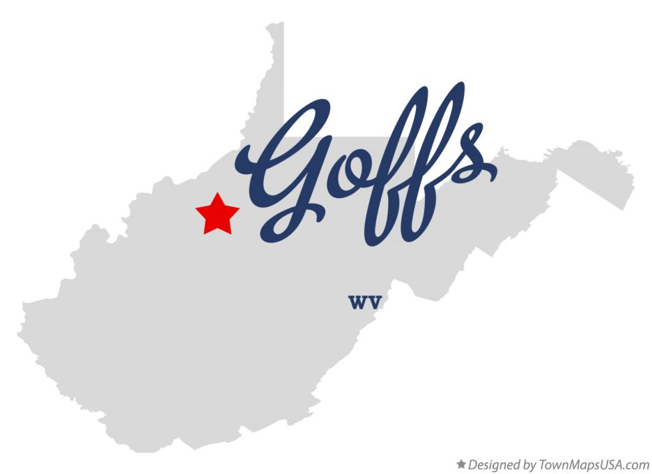 Map of Goffs West Virginia WV