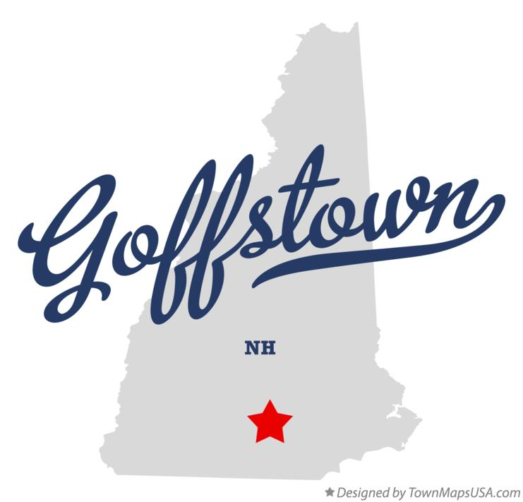 Map of Goffstown New Hampshire NH