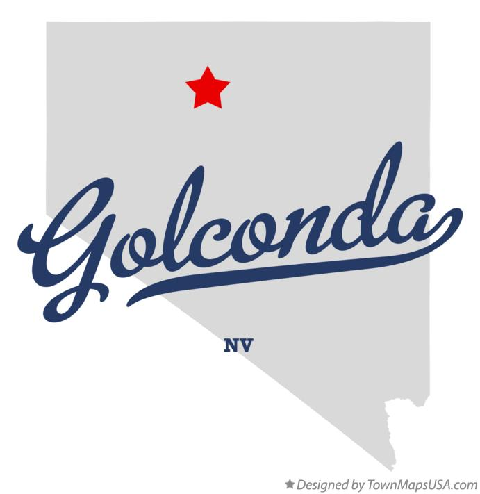 Map of Golconda Nevada NV