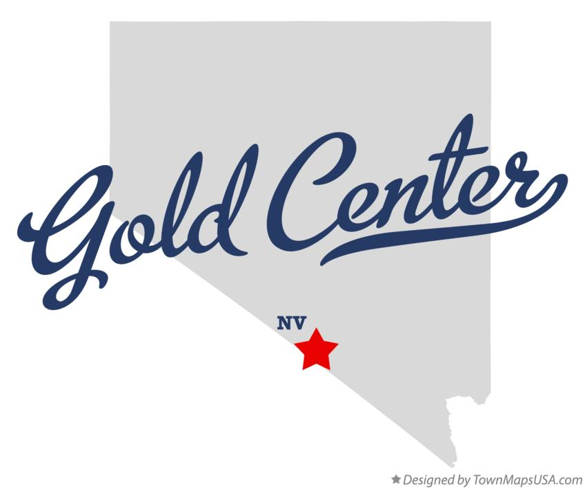Map of Gold Center Nevada NV