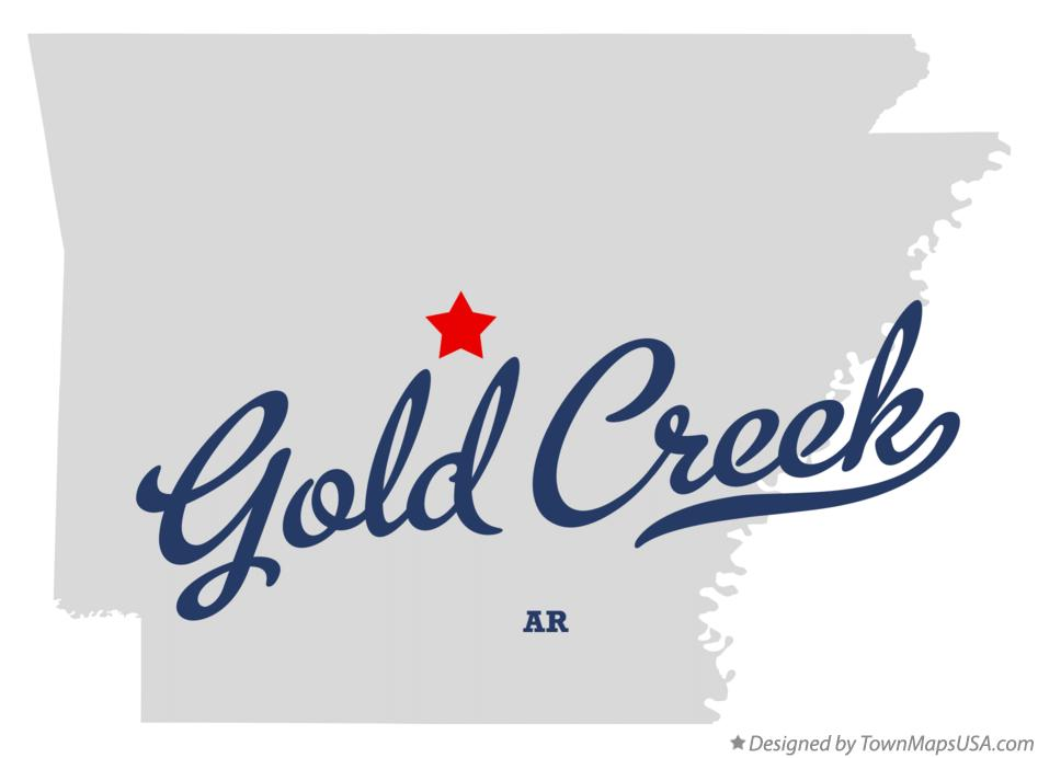 Map of Gold Creek Arkansas AR