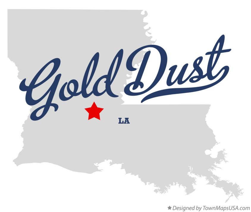 Map of Gold Dust Louisiana LA