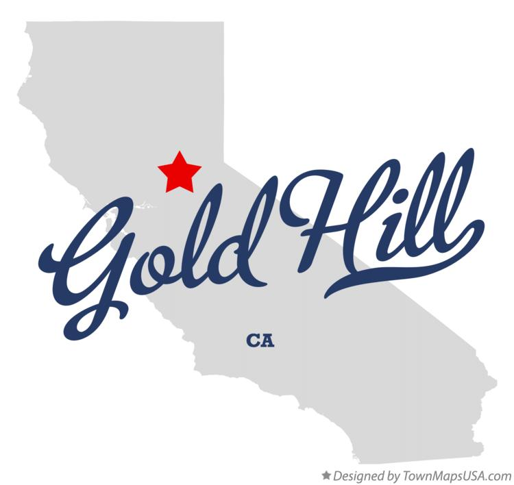Map of Gold Hill California CA
