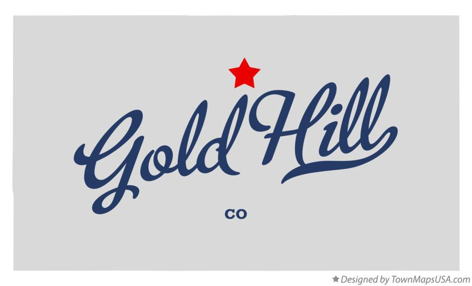 Map of Gold Hill Colorado CO
