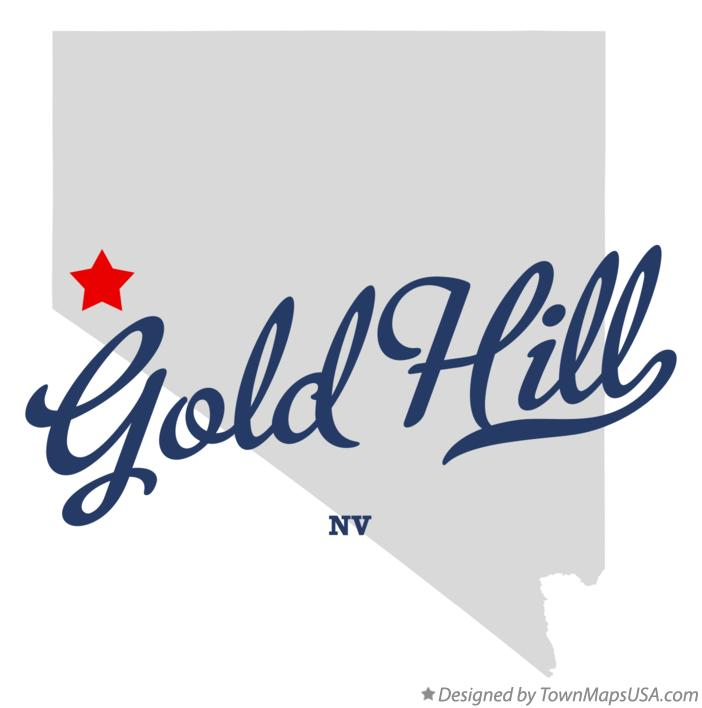 Map of Gold Hill Nevada NV