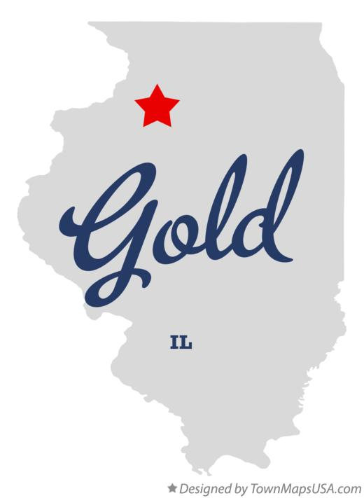 Map of Gold Illinois IL