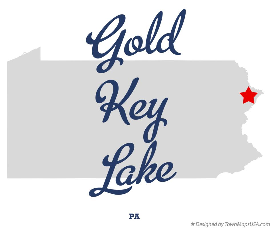Map of Gold Key Lake Pennsylvania PA